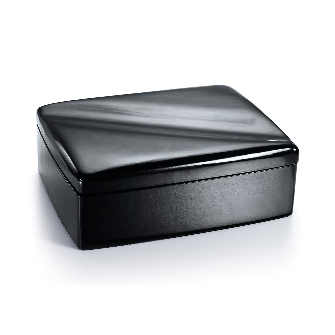 Elsa Peretti Wave Jewelry Box In Black Leather Tiffany Co