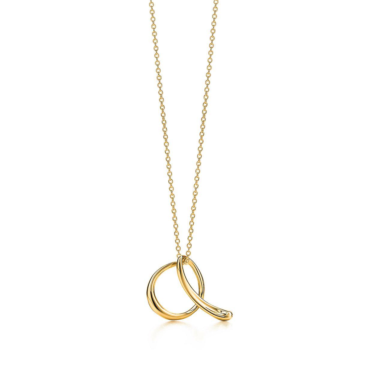 Elsa peretti alphabet pendant in 18k gold letters a z available elsa perettiletter a pendant mozeypictures Choice Image