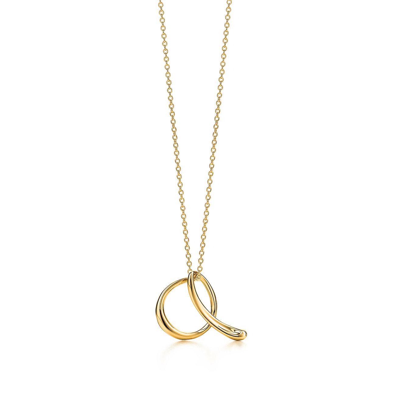 Elsa peretti 18k gold letter a pendant tiffany co elsa perettiletter a aloadofball Choice Image
