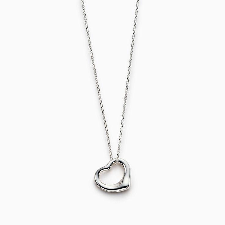 Elsa Peretti® Open Heart pendant in sterling silver.