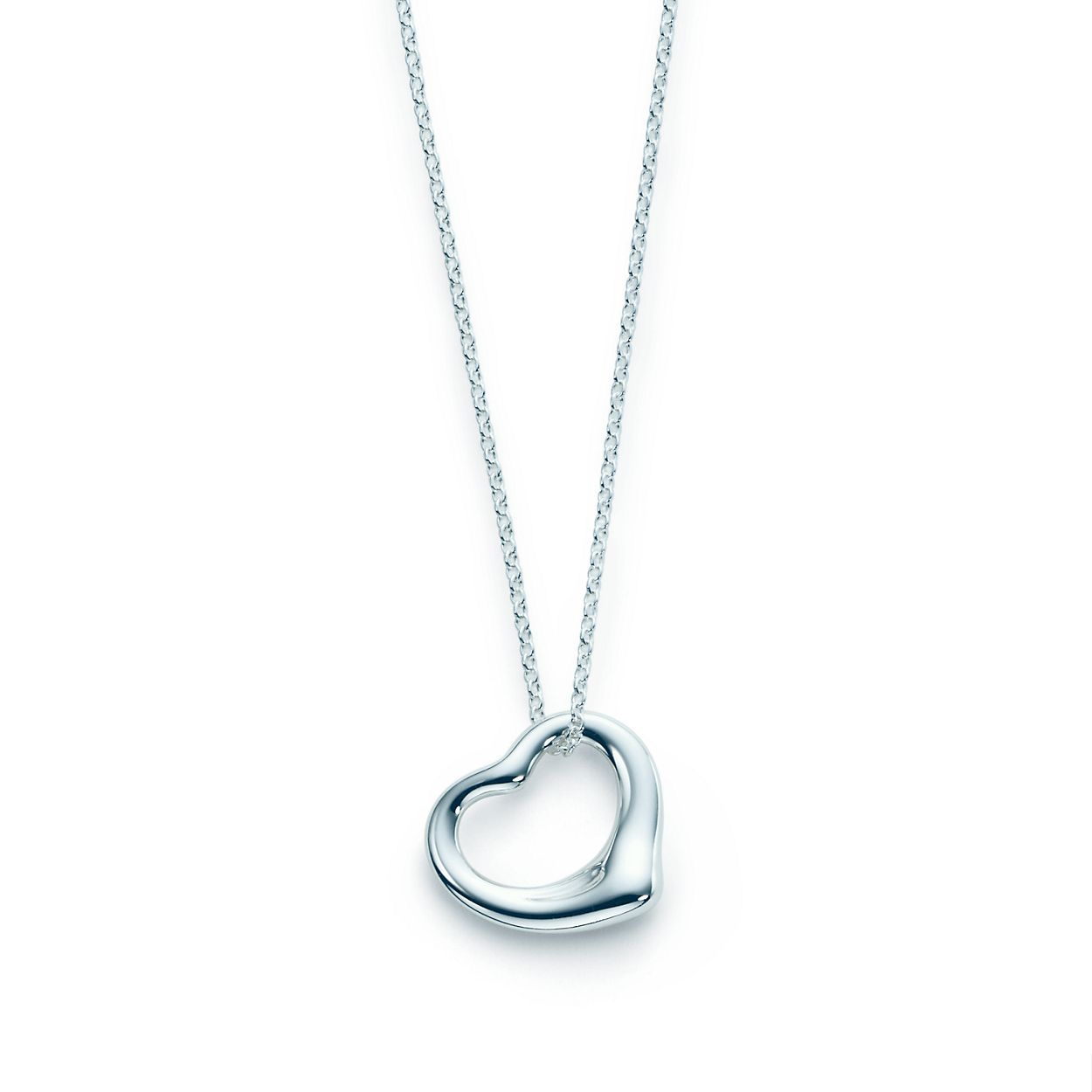 Elsa peretti open heart pendant in sterling silver tiffany co elsa perettiopen heart pendant aloadofball Images