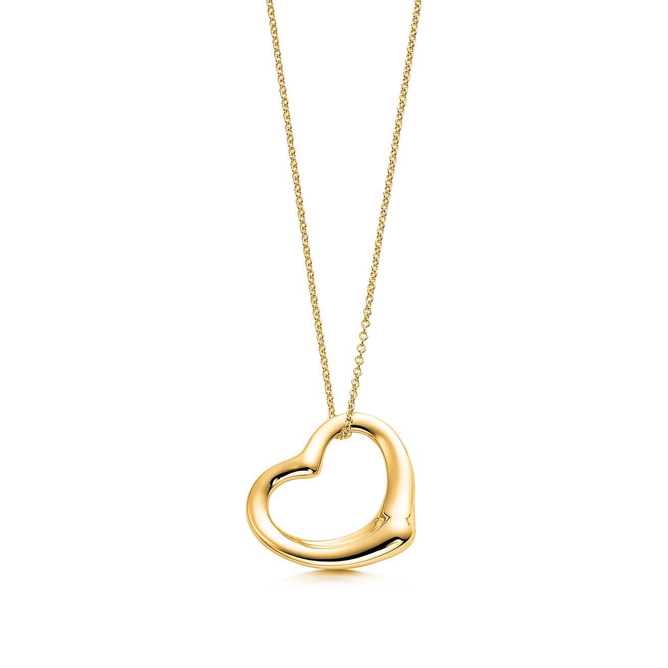Elsa peretti open heart pendant in 18k gold tiffany co elsa perettiopen heart pendant aloadofball Gallery