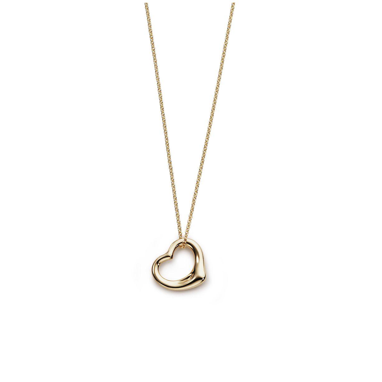 Elsa peretti open heart pendant in 18k gold tiffany co elsa perettiopen heart pendant aloadofball Images