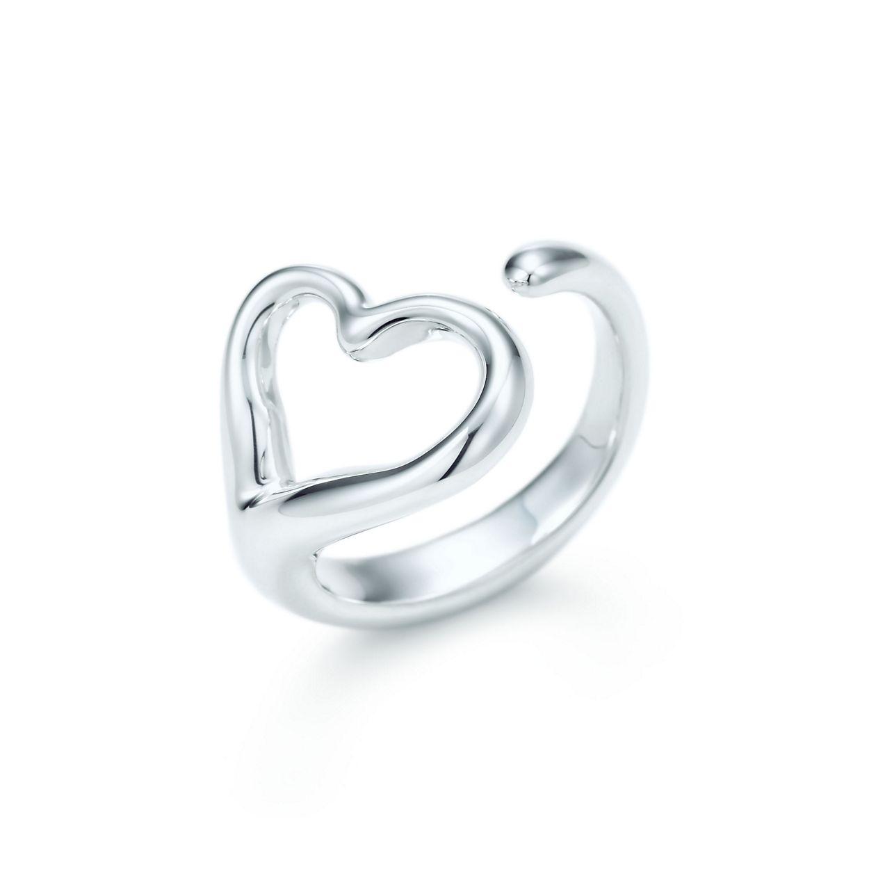 Elsa Peretti® Open Heart ring in sterling silver, medium ...