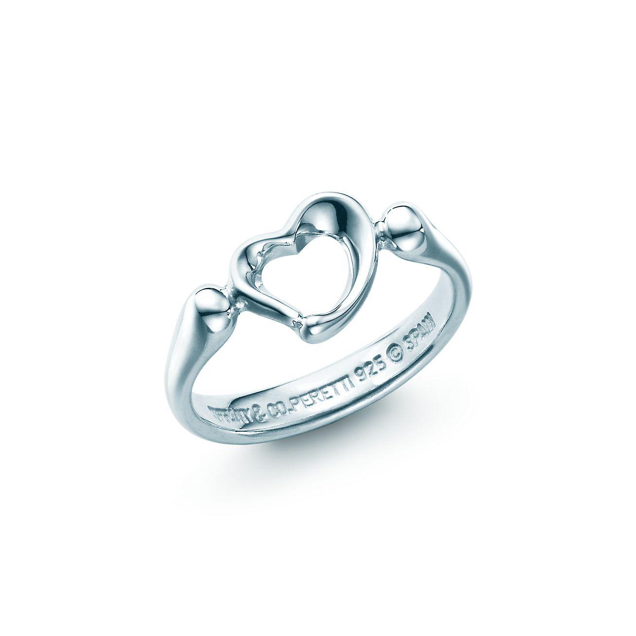 Elsa Peretti® Open Heart ring in sterling silver, mini. | Tiffany ...