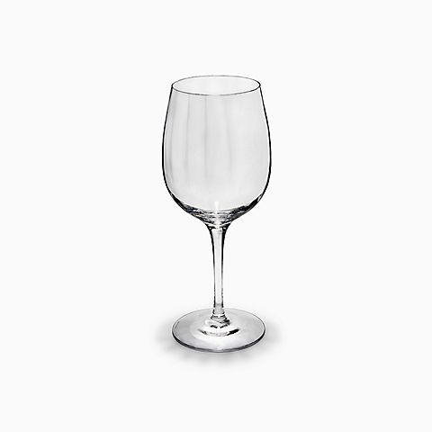 Bordeaux wine glass in handblown optic crystal.