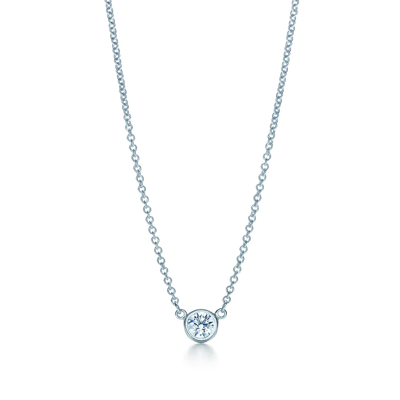 Elsa peretti diamonds by the yard pendant in platinum 16 long elsa perettidiamonds by the yard pendant mozeypictures Images