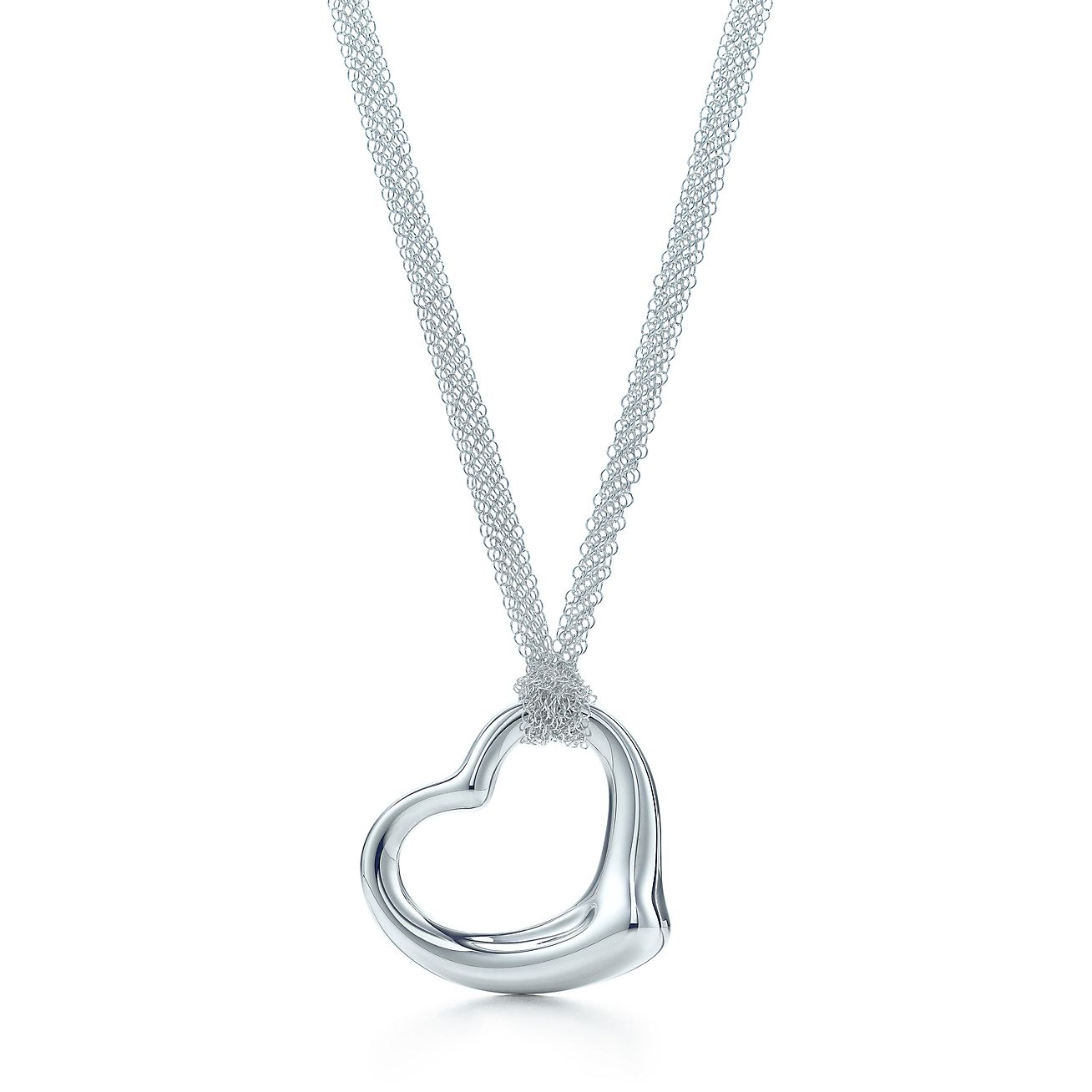 Elsa peretti open heart pendant in sterling silver on a 30 mesh elsa perettiopen heart pendant aloadofball Images