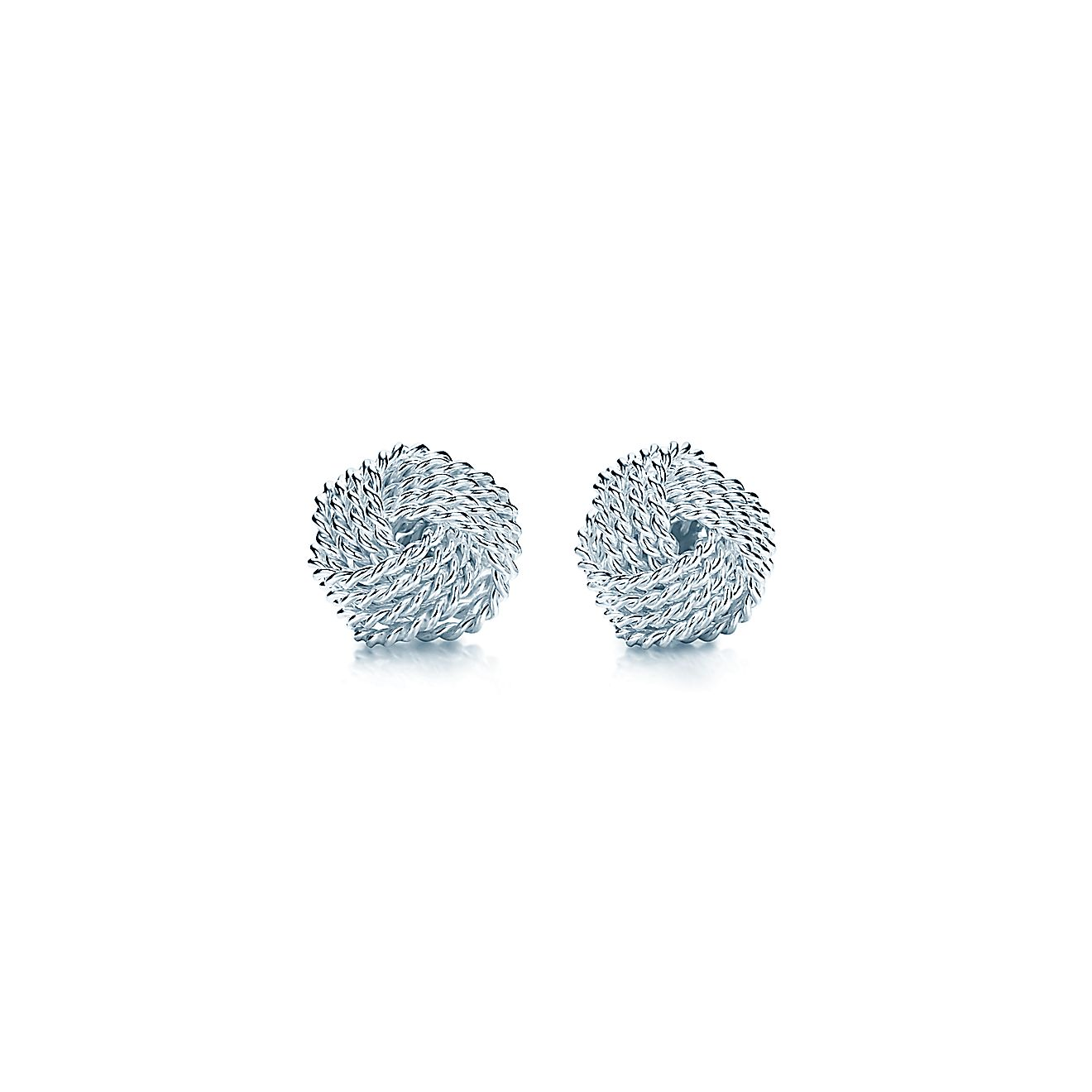 Tiffany knot earrings white gold