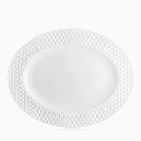 Tiffany Weave oval platter in Irish Parian bone china.