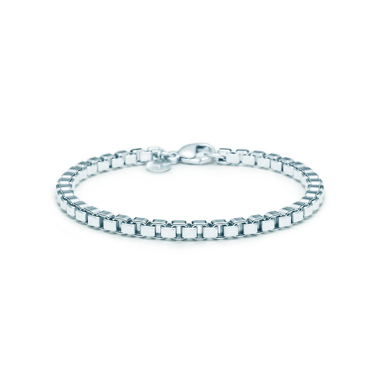 co sterling silver venetian link bracelet 7 5