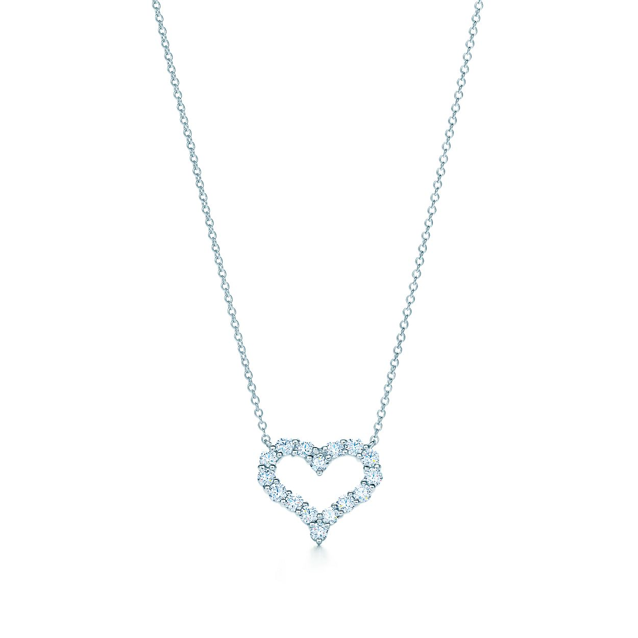 Pendant in platinum with diamonds small tiffany co diamond heart pendant diamond heart pendant aloadofball Image collections