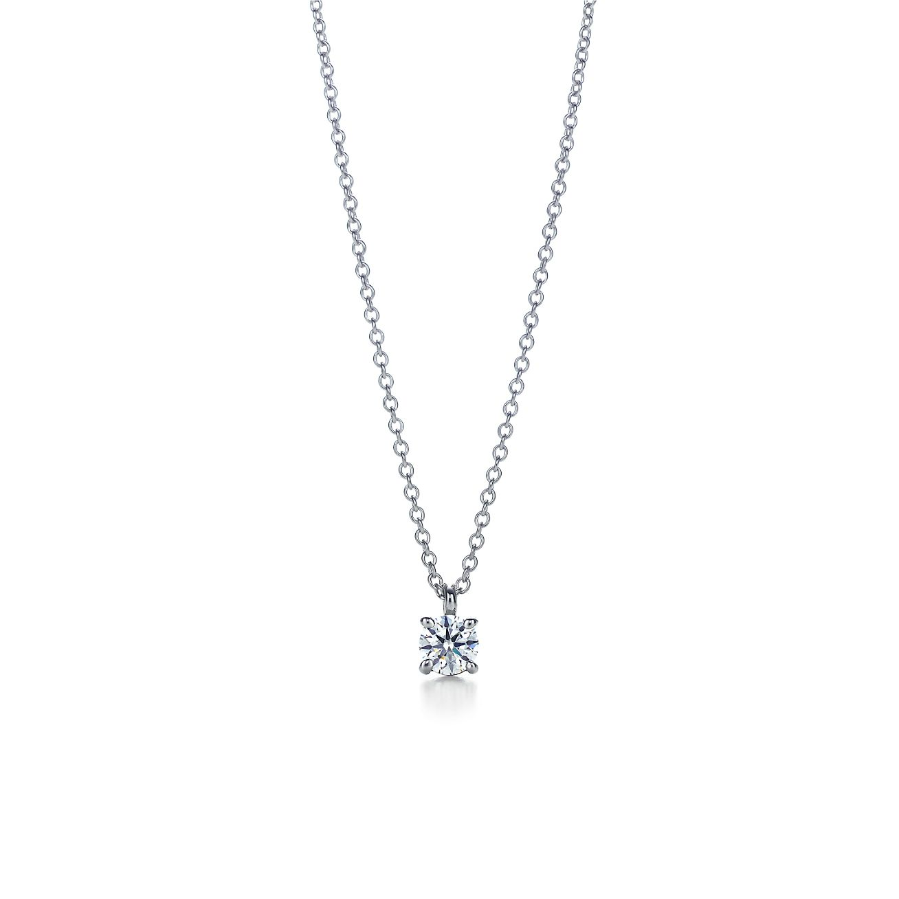 Tiffany solitaire diamond pendant in platinum tiffany co tiffany solitaire diamond pendant aloadofball Image collections
