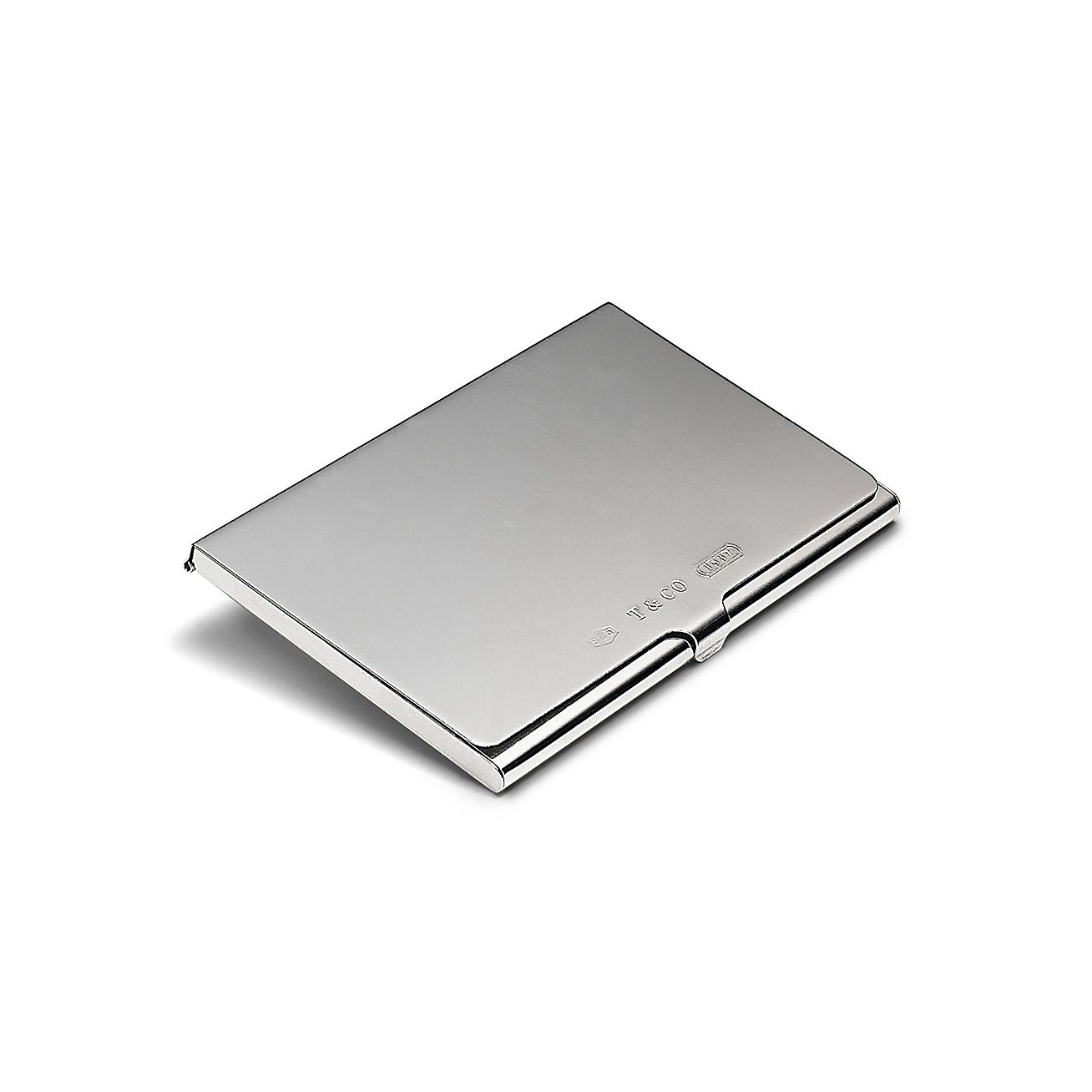 Shop Tiffany 1837® Sterling Silver Business Card Holder | Tiffany ...