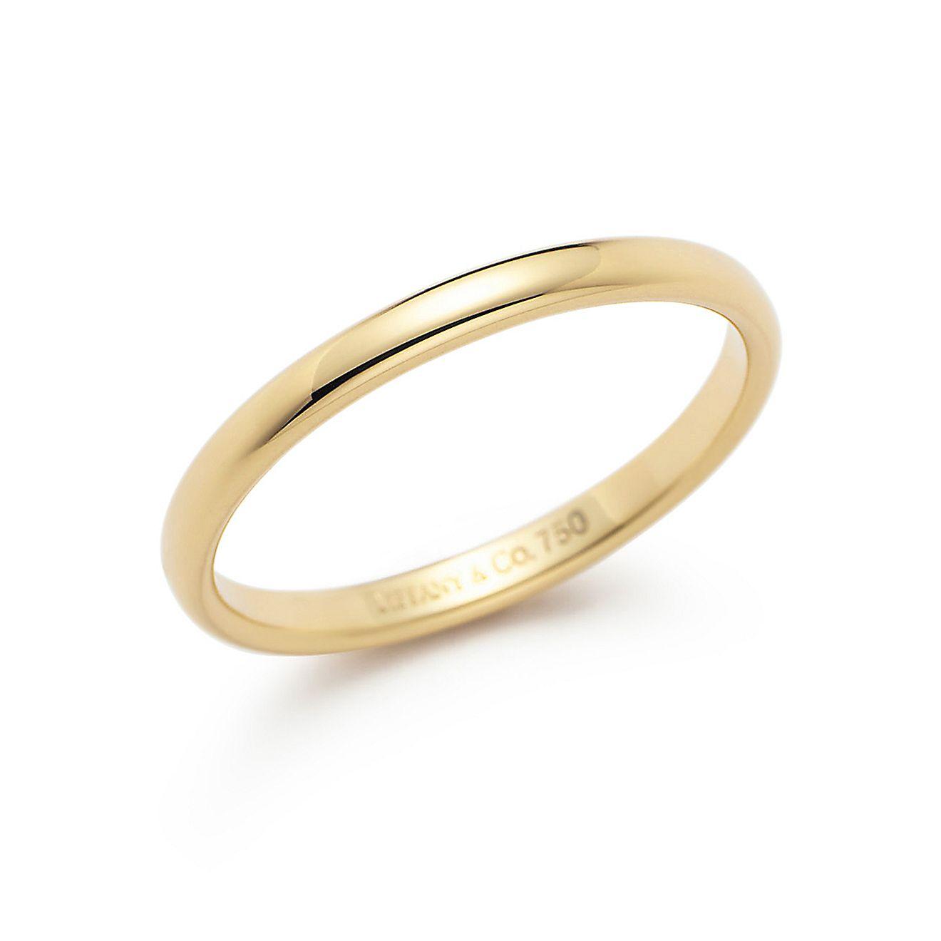 "Tiffany  Co. | Item | Print | Lucidaâ""¢ wedding band ring in 18k gold ..."