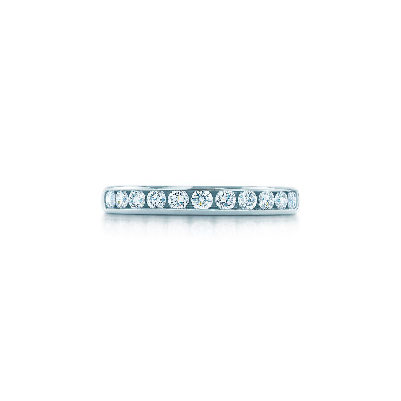 Tiffany diamond wedding band in platinum 3 mm wide tiffany co tiffany diamond wedding band junglespirit Images