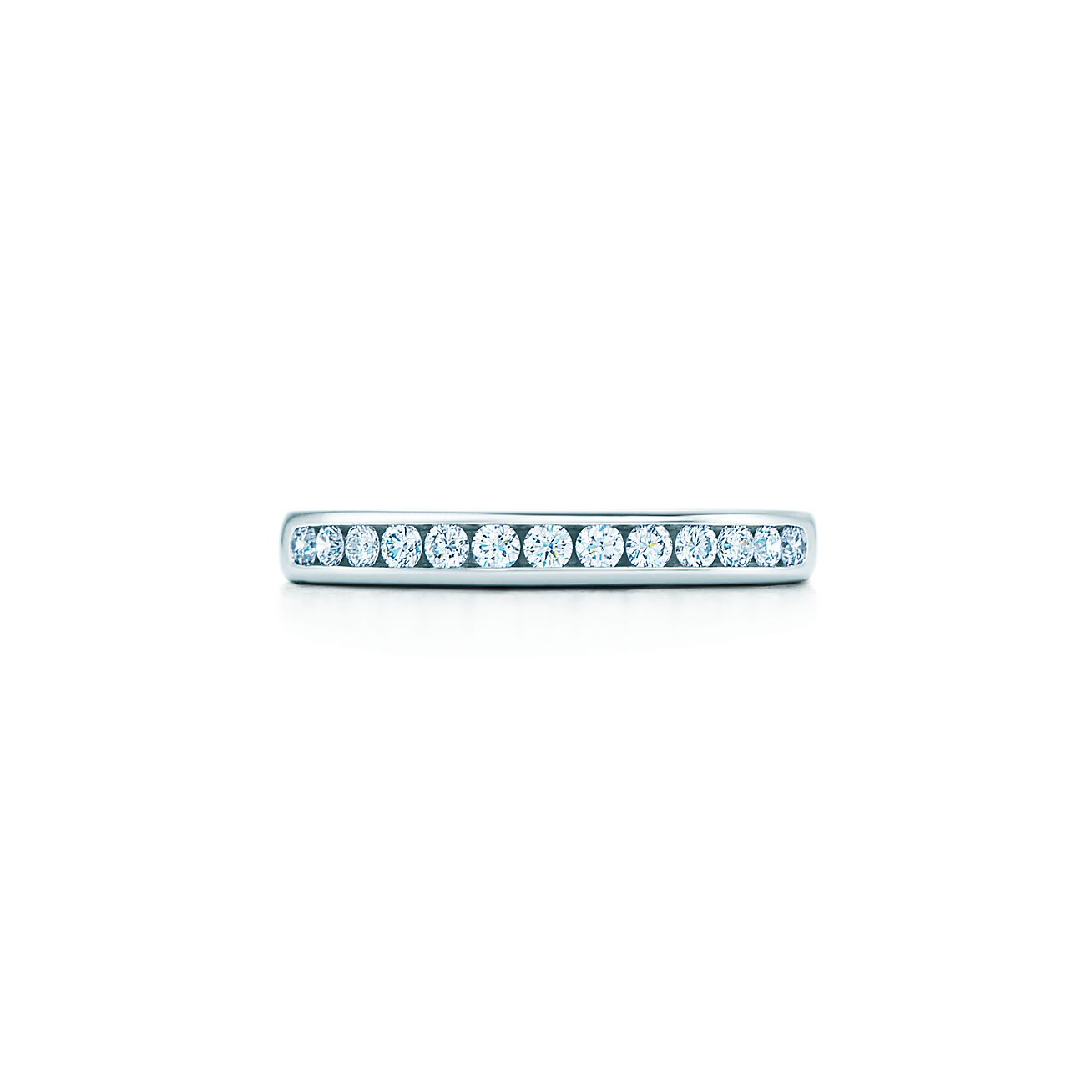 Tiffany diamond wedding band ring in platinum with a half circle tiffany diamond wedding band junglespirit Images