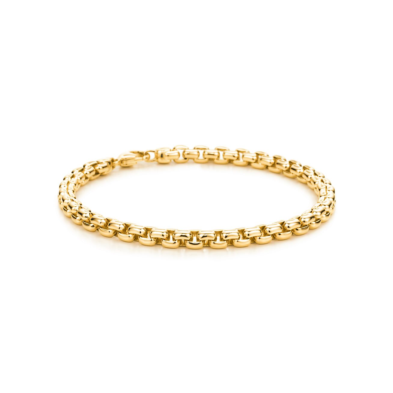 Square link men\'s bracelet in 18k gold. | Tiffany & Co.