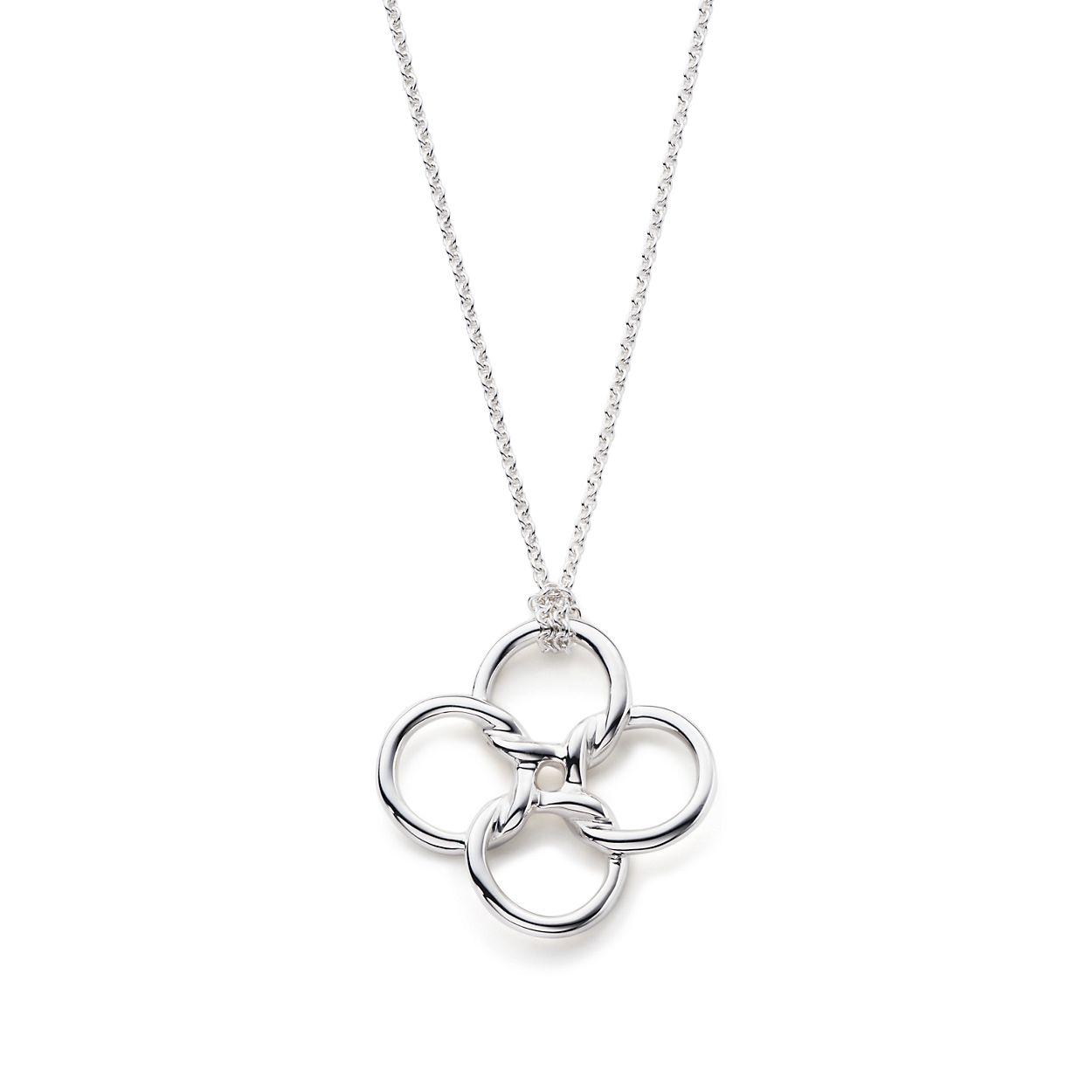 Elsa peretti quadrifoglio pendant in sterling silver medium elsa perettiquadrifoglio pendant mozeypictures Gallery