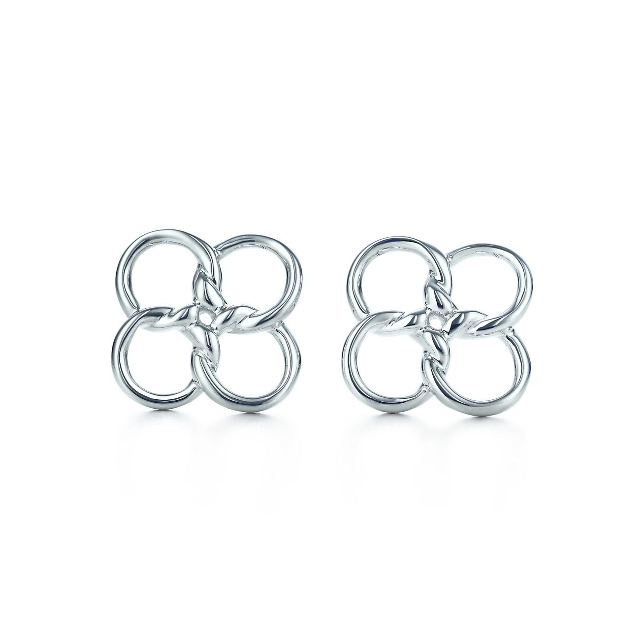 Elsa peretti quadrifoglio earrings in sterling silver tiffany elsa perettiquadrifoglio earrings mozeypictures Gallery