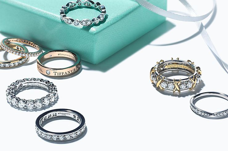 Tiffany & Co. Wedding Rings in Platinum, 18k Gold and Diamonds