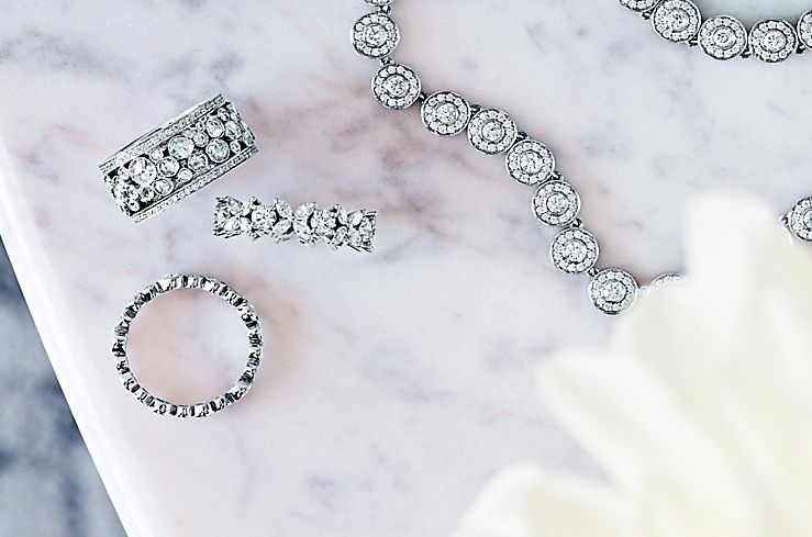 Tiffany & Co. Diamond Rings and Necklaces