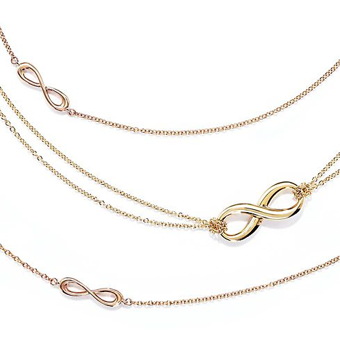 Tiffany Infinity Rose Gold and 18k Gold Necklaces & Pendants
