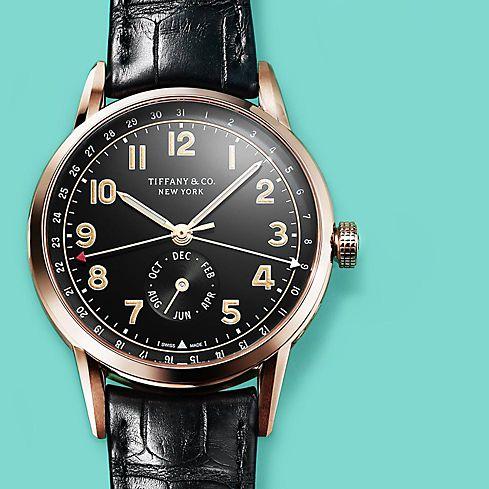 Tiffany & Co. CT60 Annual Calendar Watch in 18K Rose Gold
