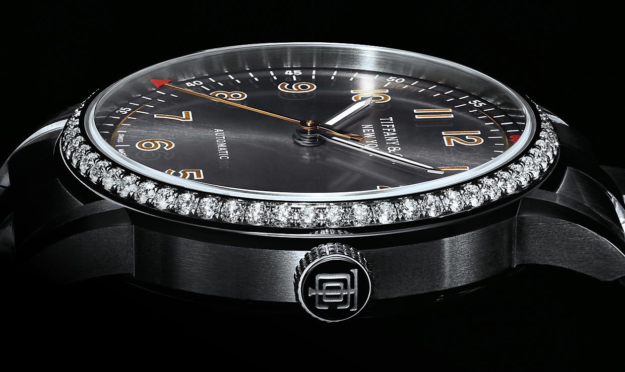 Tiffany CT60 3 Hand Diamonds Watches
