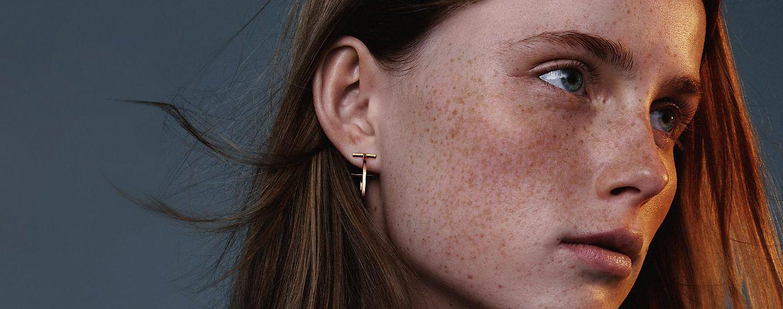 Tiffany T Gold Earrings