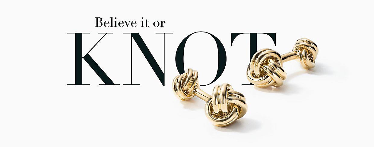 Tiffany Gold Knot Cufflinks Fathers Day Gifts