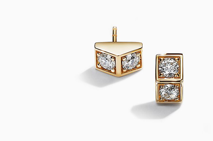 Tiffany & Co. Out of Retirement Collection Diamond Earrings In Gold