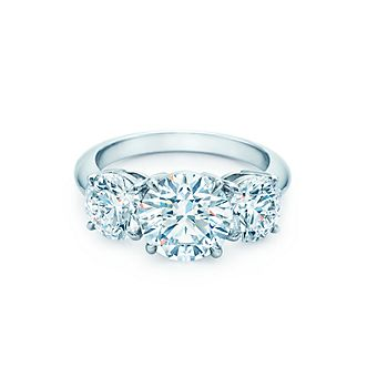 Browse engagement ring collection tiffany co tiffany three stone junglespirit Gallery