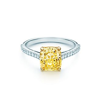 Tiffany's yellow diamond ring
