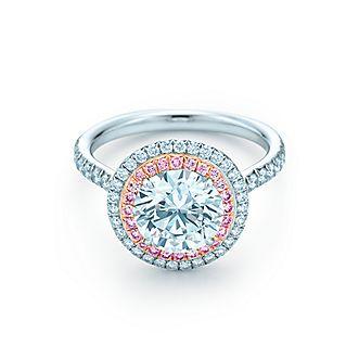 three stone - Round Wedding Rings