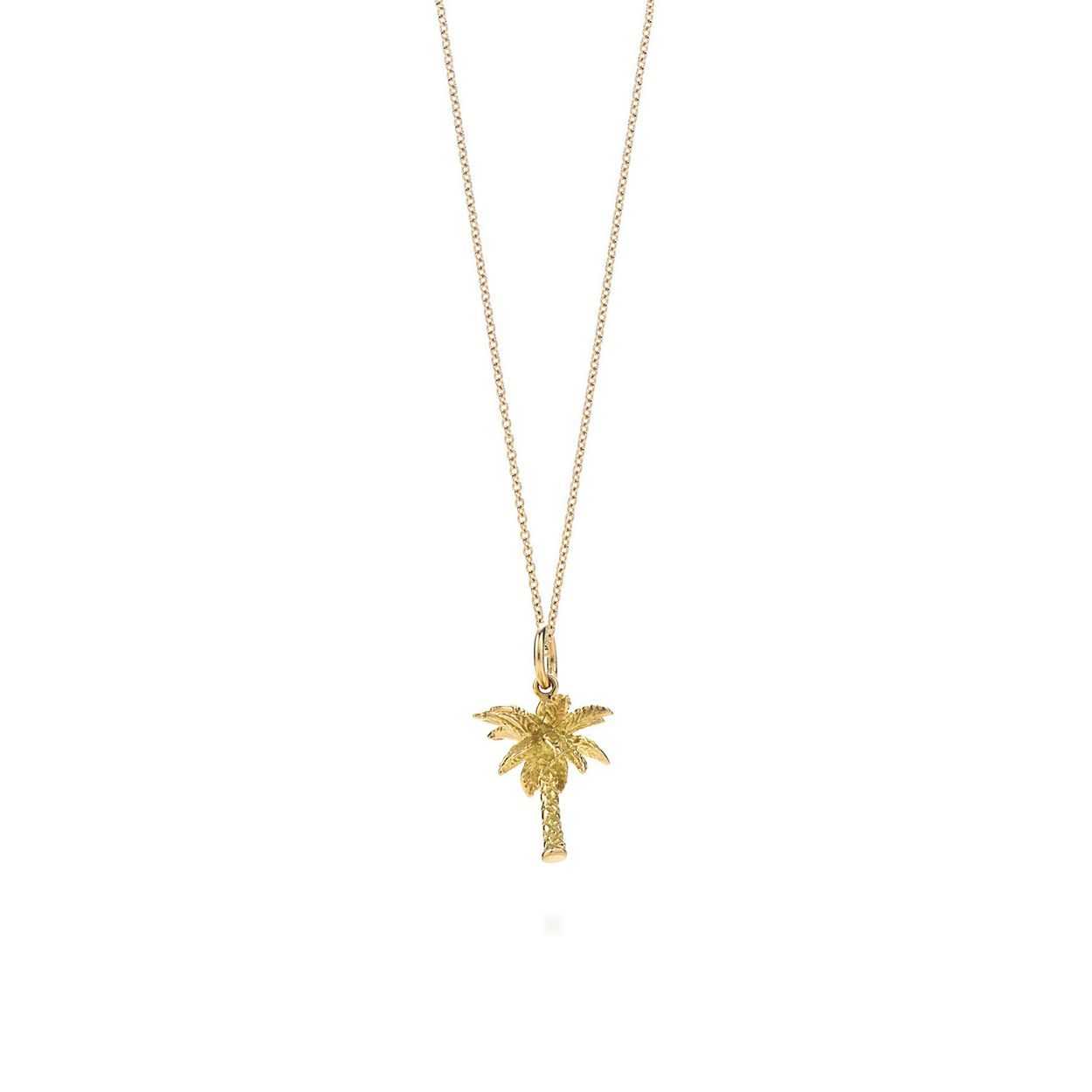 Palm tree charm 18k gold on a chain tiffany co palm tree charm pendant palm tree charm pendant mozeypictures Choice Image