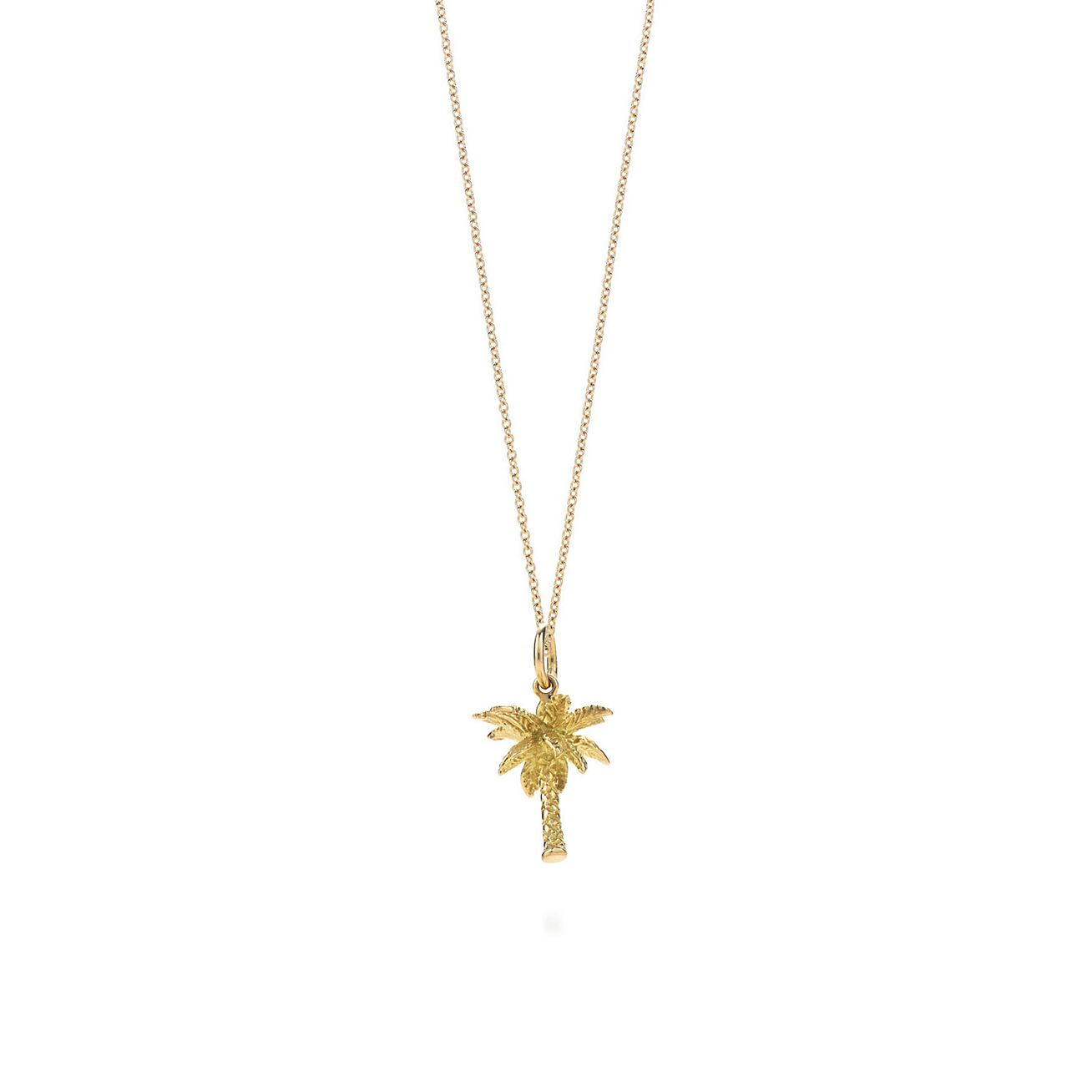Palm tree charm 18k gold on a chain tiffany co palm tree charm pendant mozeypictures Gallery