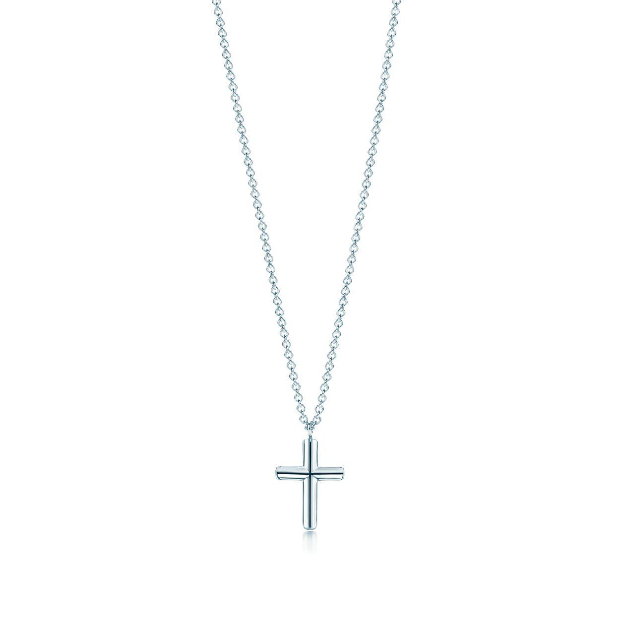 Shop sterling silver concave cross pendant necklace tiffany co concave cross pendant concave cross pendant aloadofball Images