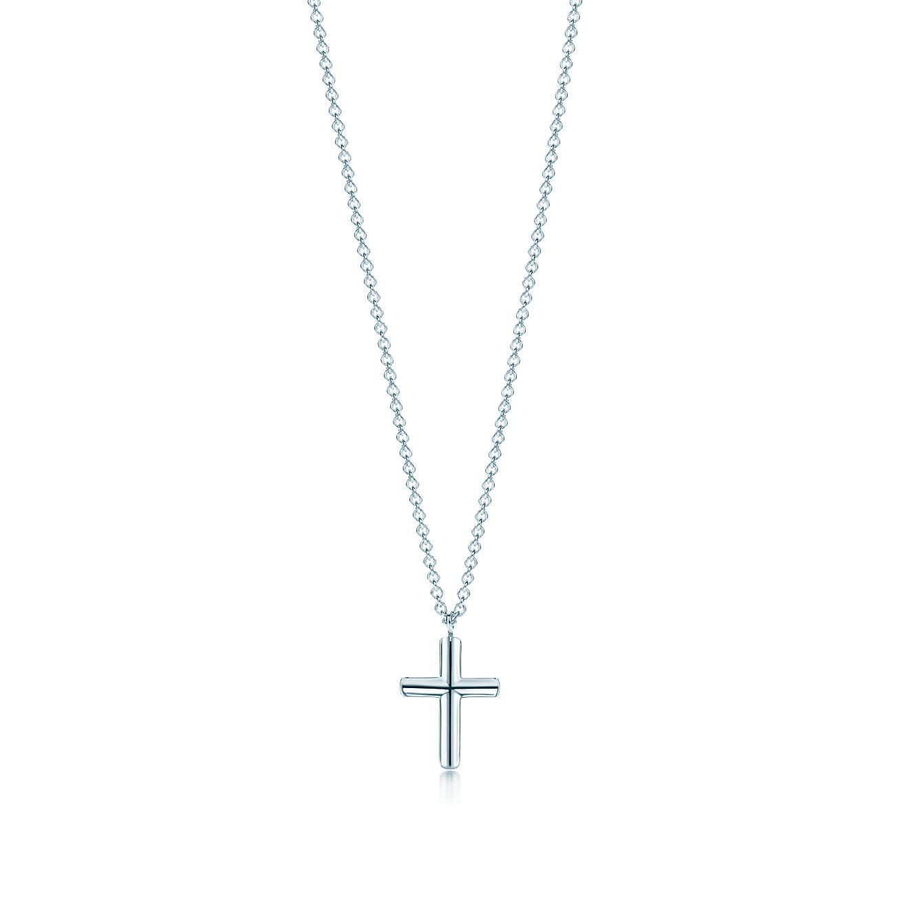 Shop sterling silver concave cross pendant necklace tiffany co concave cross pendant buycottarizona Image collections