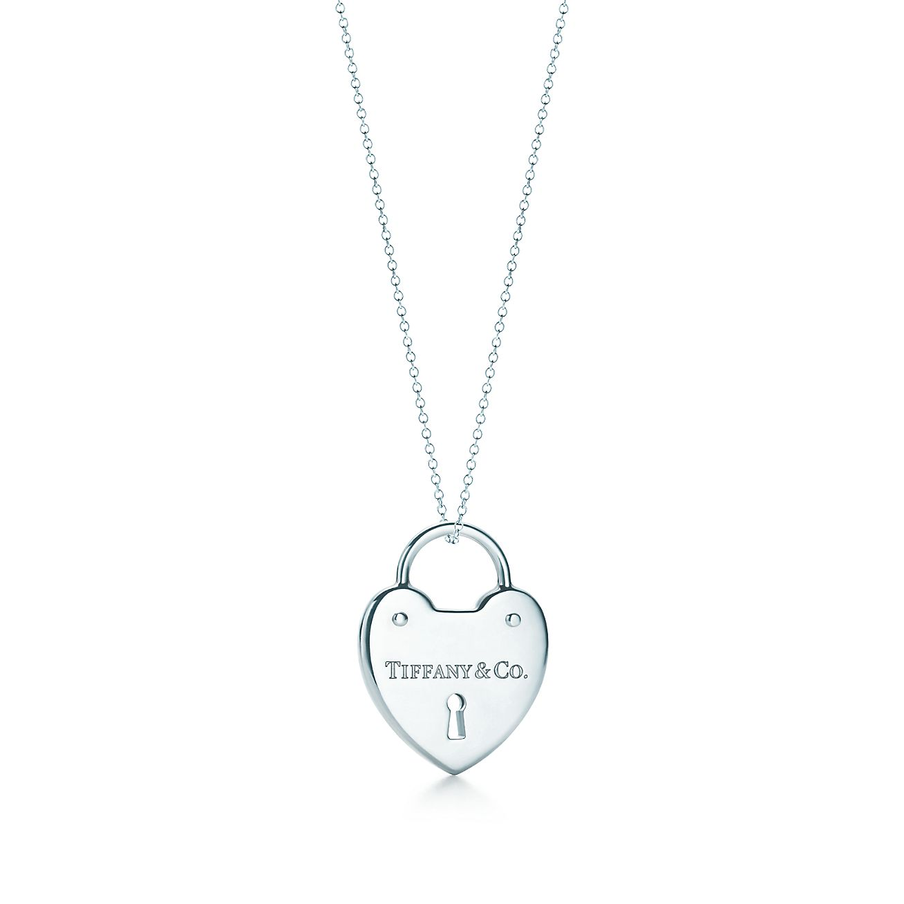 Tiffany locks heart lock pendant in sterling silver on a chain tiffany locksheart lock pendant aloadofball Images