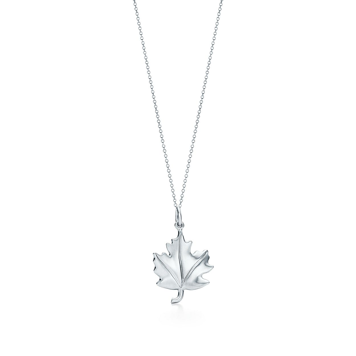 Tiffany charms maple leaf charm in sterling silver tiffany co tiffany charmsmaple leaf charm aloadofball Image collections