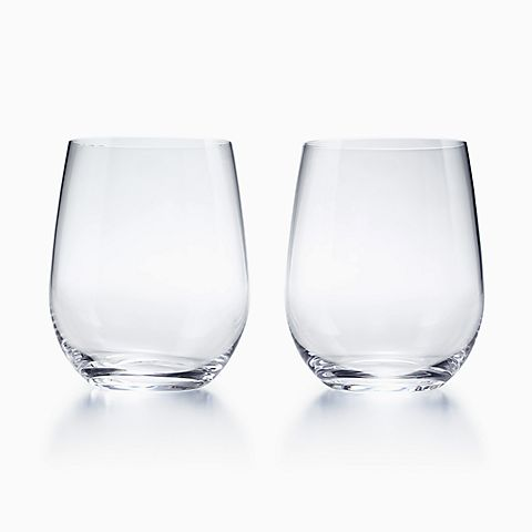 "Riedel ""O"" Riesling tumblers in glass, set of two."