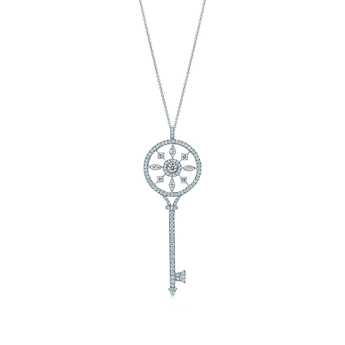 Tiffany keys round kaleidoscope key pendant with diamonds in tiffany keys kaleidoscope key pendant aloadofball Gallery