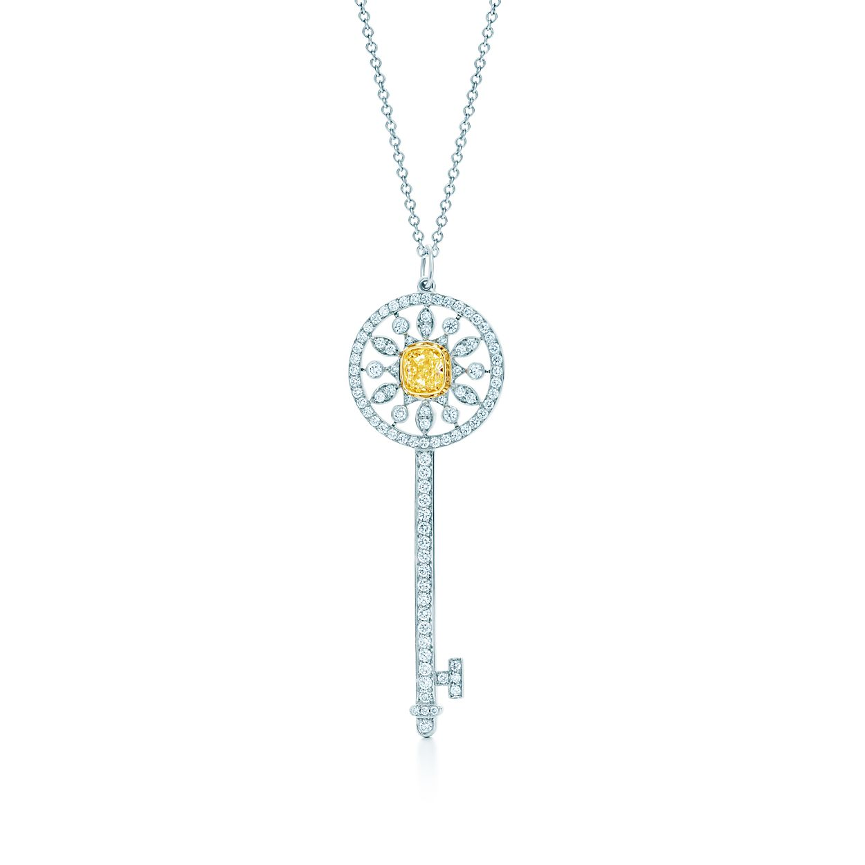 Tiffany keys star key pendant of yellow and white diamonds in tiffany keysstar key pendant tiffany keysstar key pendant aloadofball Gallery
