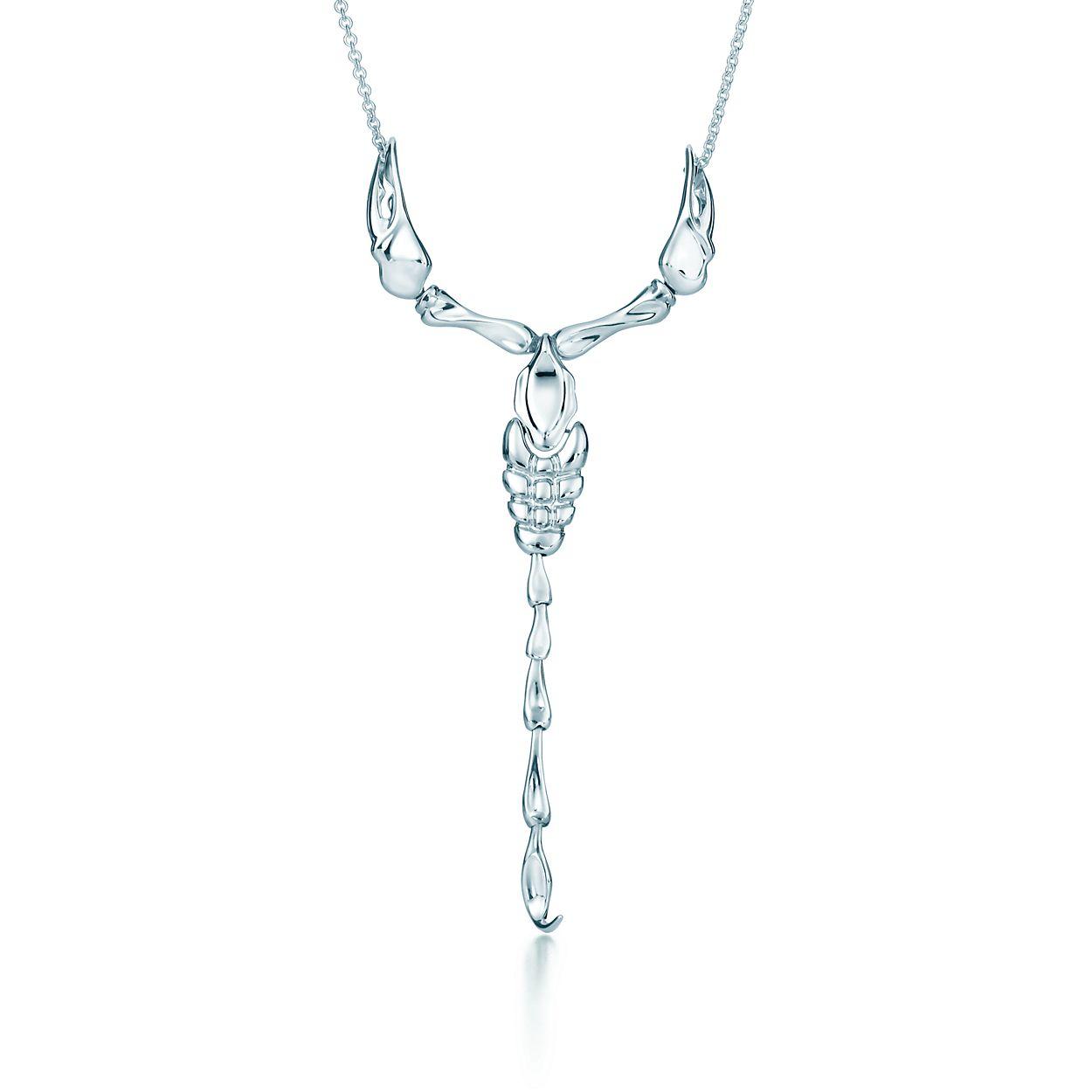 Elsa peretti scorpion pendant in sterling silver tiffany co elsa perettiscorpion pendant mozeypictures Images