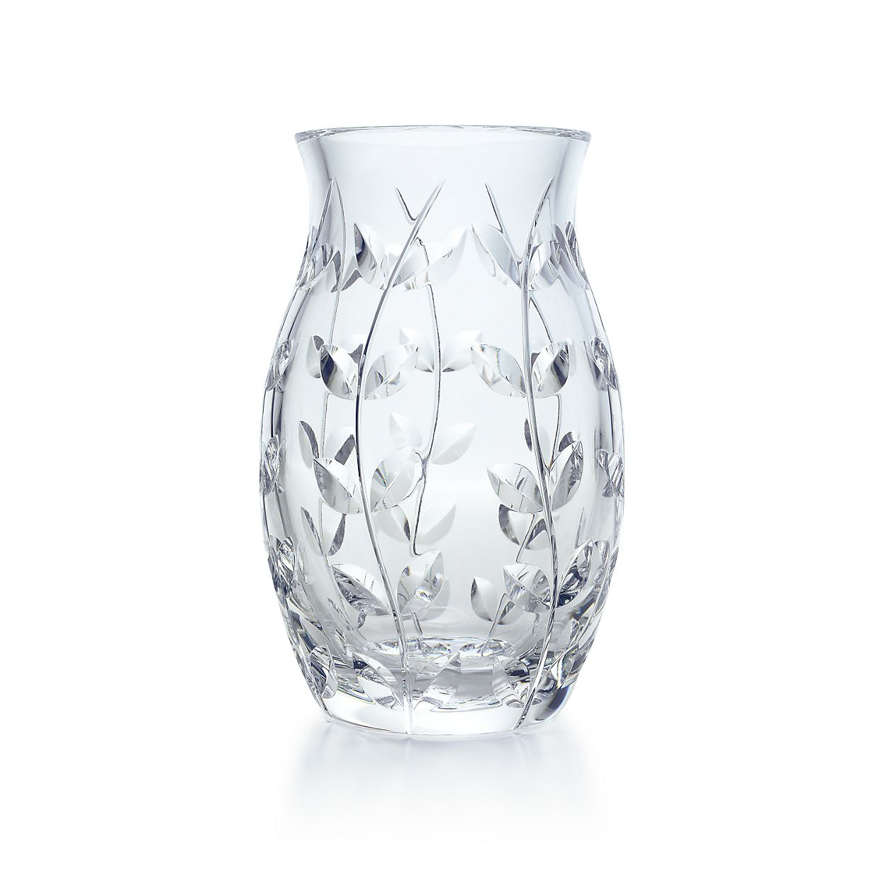 Floral vine tulip vase in hand cut crystal tiffany co floral vinetulip vase floral vinetulip vase reviewsmspy