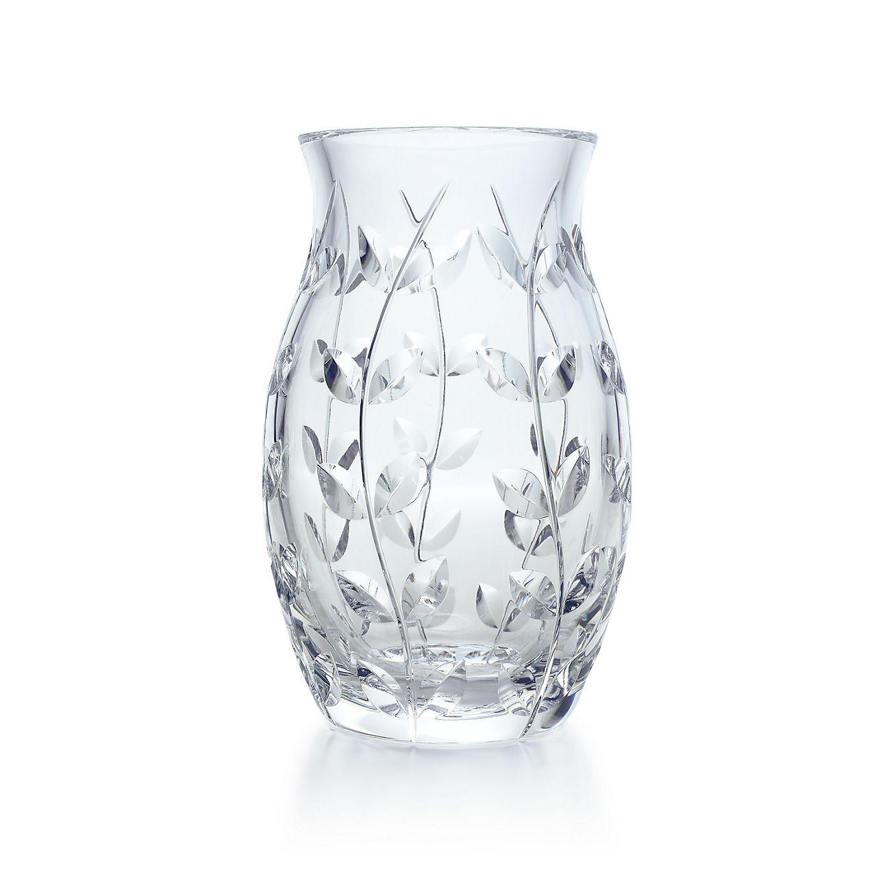 Floral vine tulip vase in hand cut crystal tiffany co floral vinetulip vase reviewsmspy