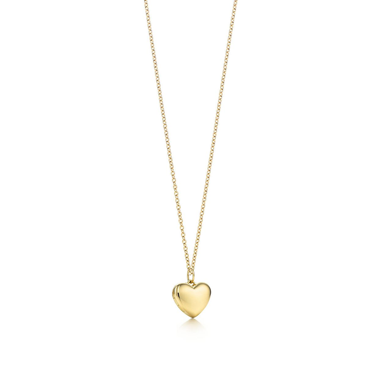 Heart locket pendant in 18k gold, small. | Tiffany & Co.