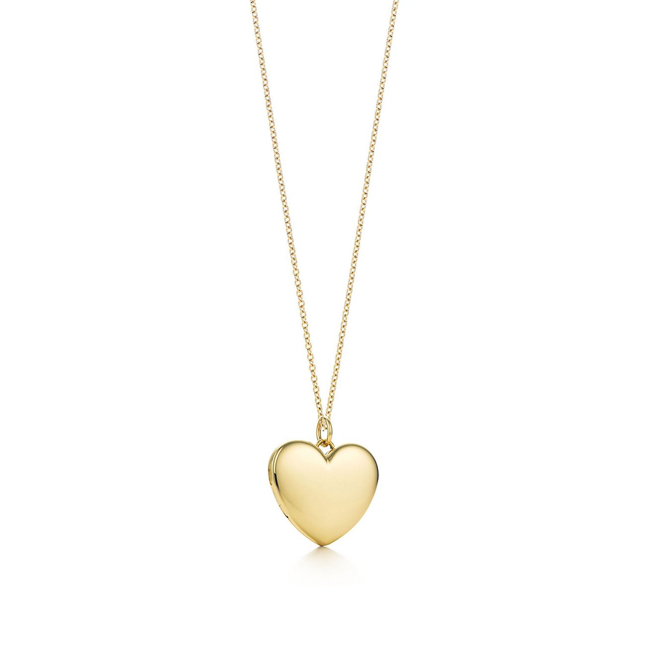 Heart locket pendant in 18k gold large tiffany co heart locket pendant mozeypictures Images
