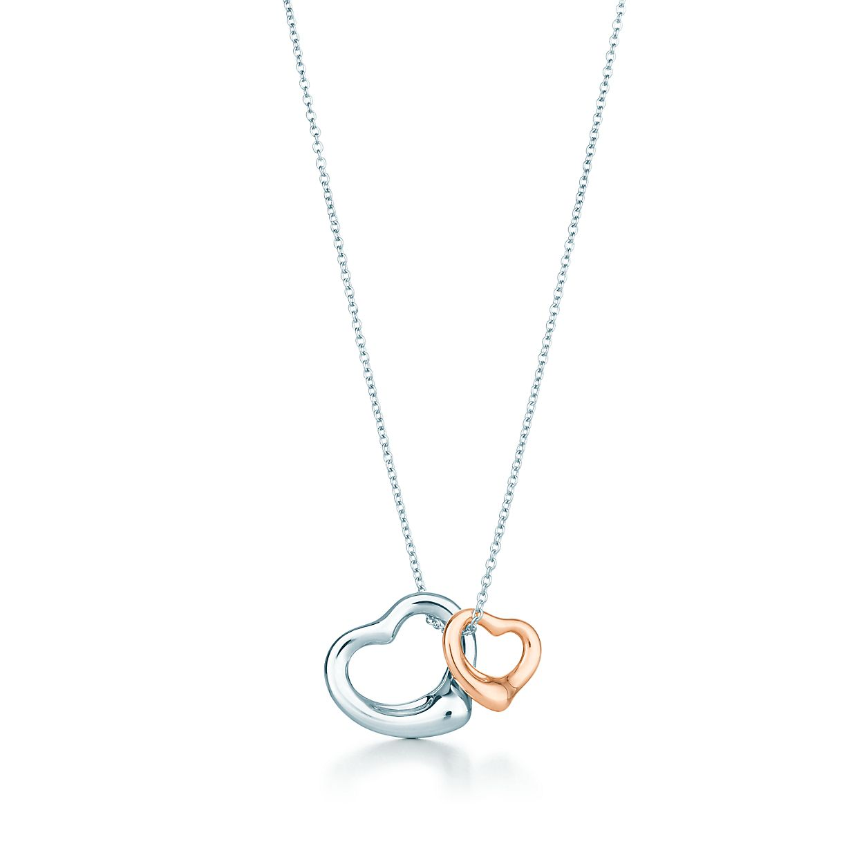 Elsa peretti open heart pendant in sterling silver and 18k rose elsa perettiopen heart pendant aloadofball Images